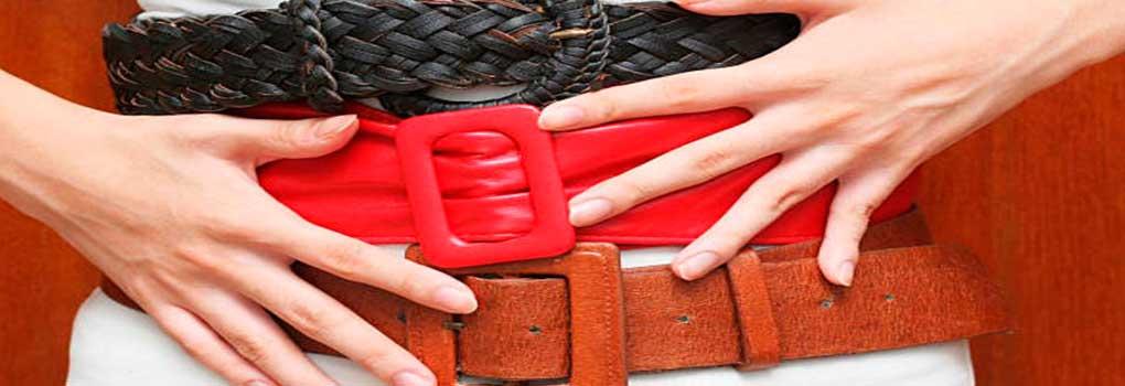 Cinturón de tela para mujer
