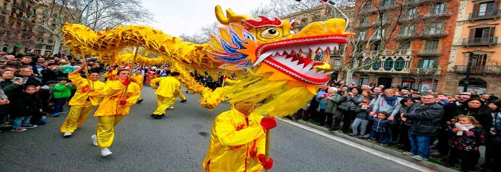 Dragón chino para desfiles