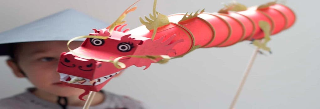 Dragón chino para niños