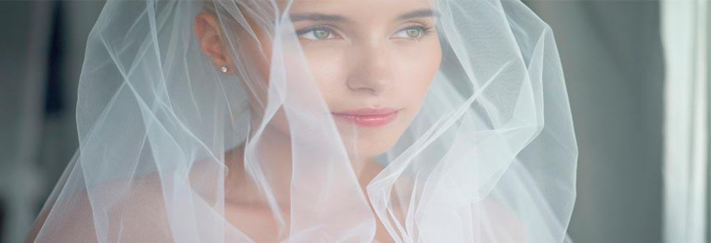 Velo de novia corto
