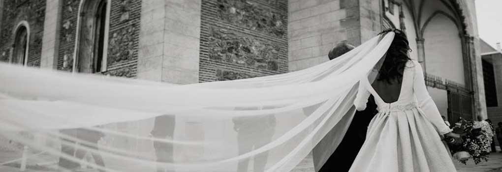 Velo de novia tipo catedral