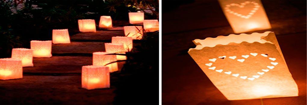 Farolillo de papel para velas