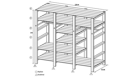 Plano para hacer un closet de madera