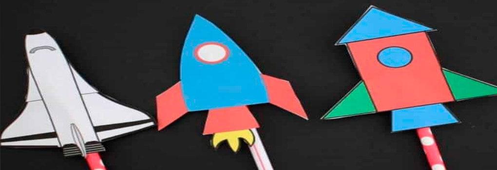 Un cohete de papel