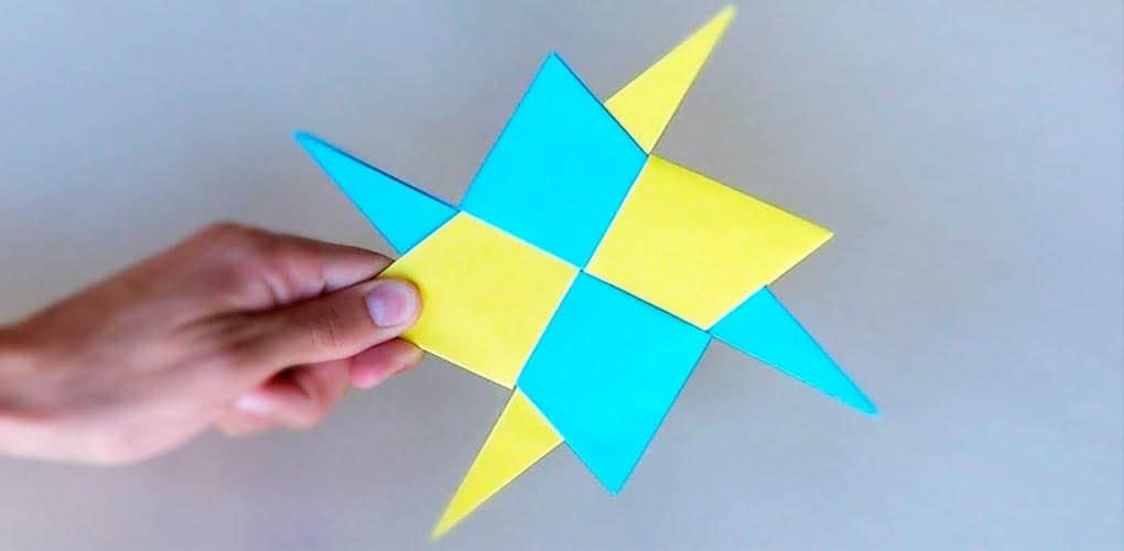 Shuriken de papel