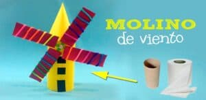 Molino de Viento con materiales reciclables